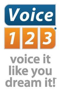 Voice123logosaying