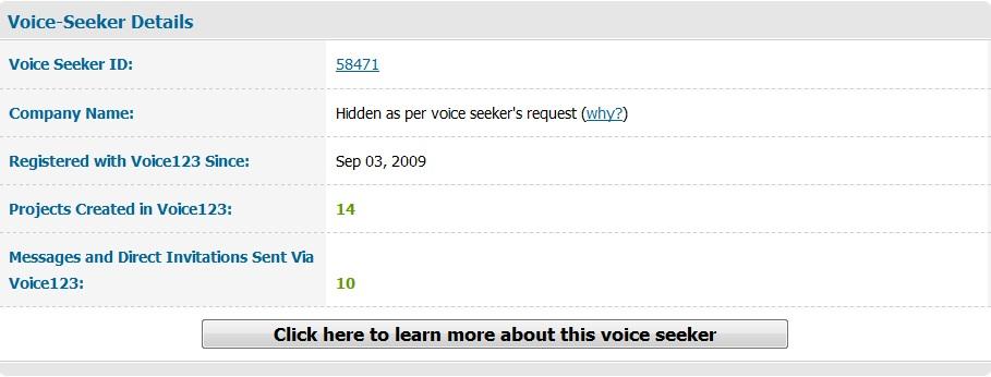 Voice-Seeker Details