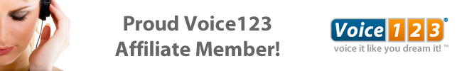 Voice123 Affiliate Banner