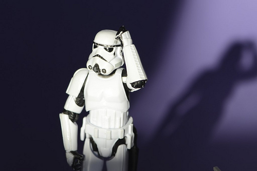 Storm Trooper wondering