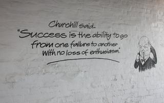 Success Failure Churchill Quote