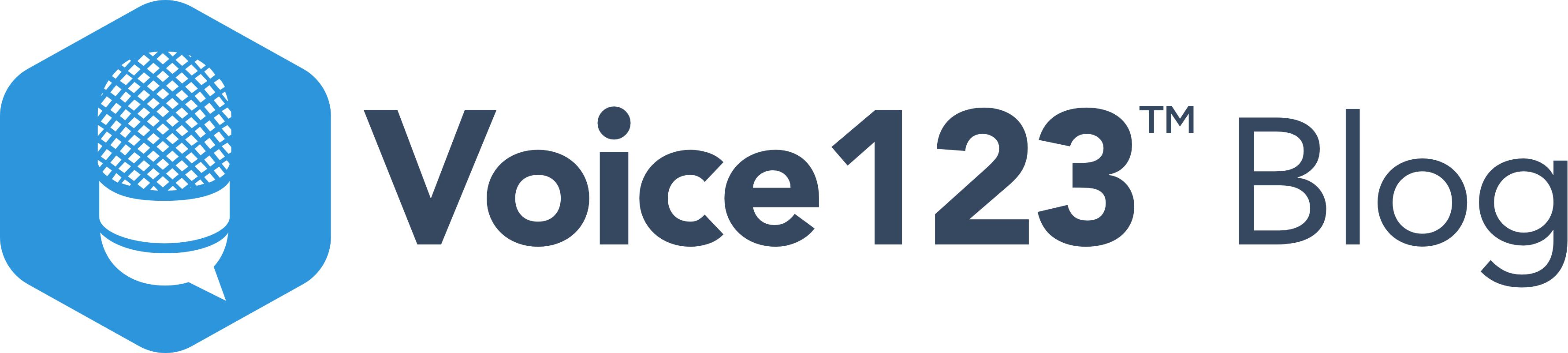 Voice123 blog logo