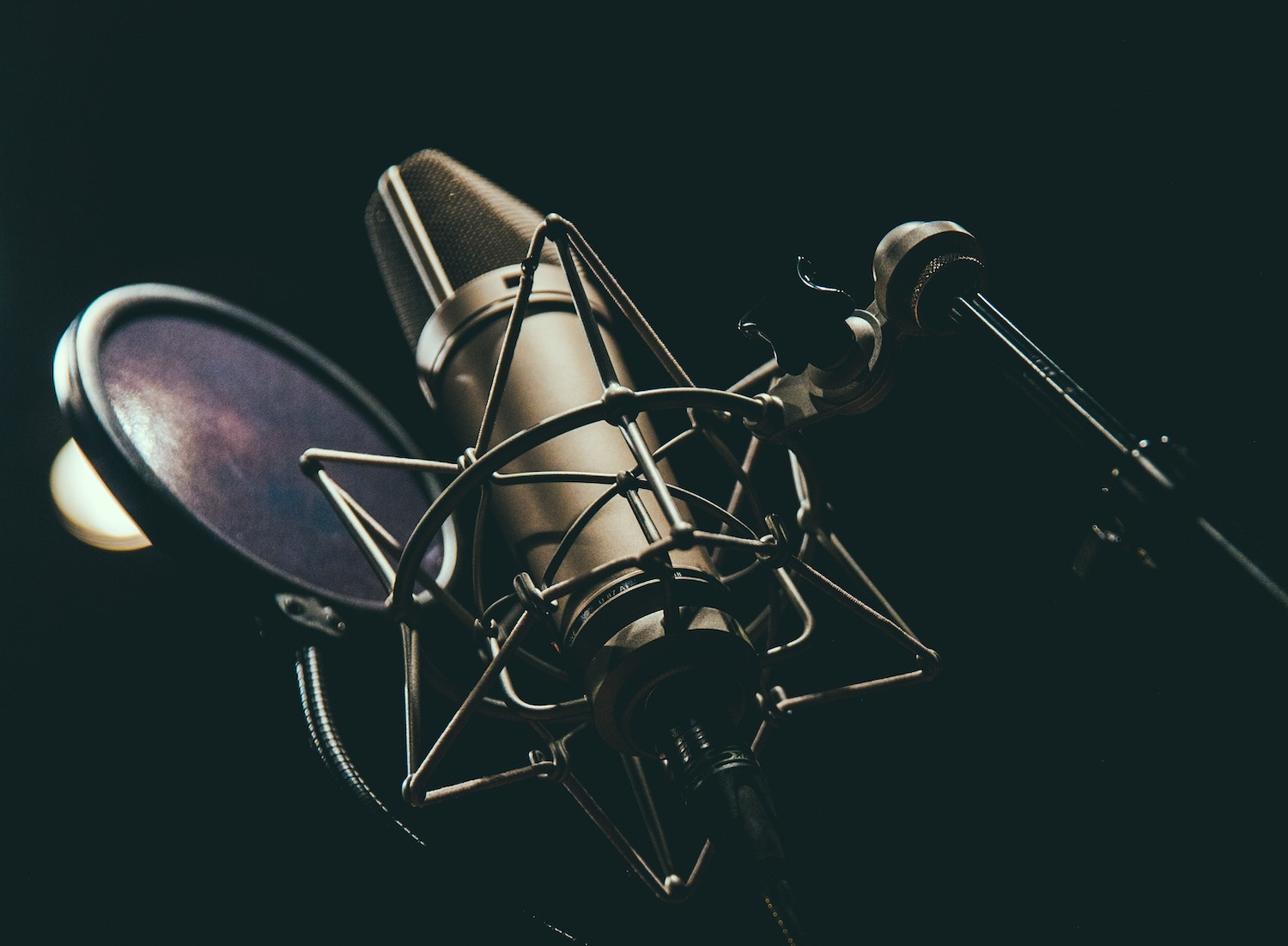 Accents when voice-acting: image of a microphone