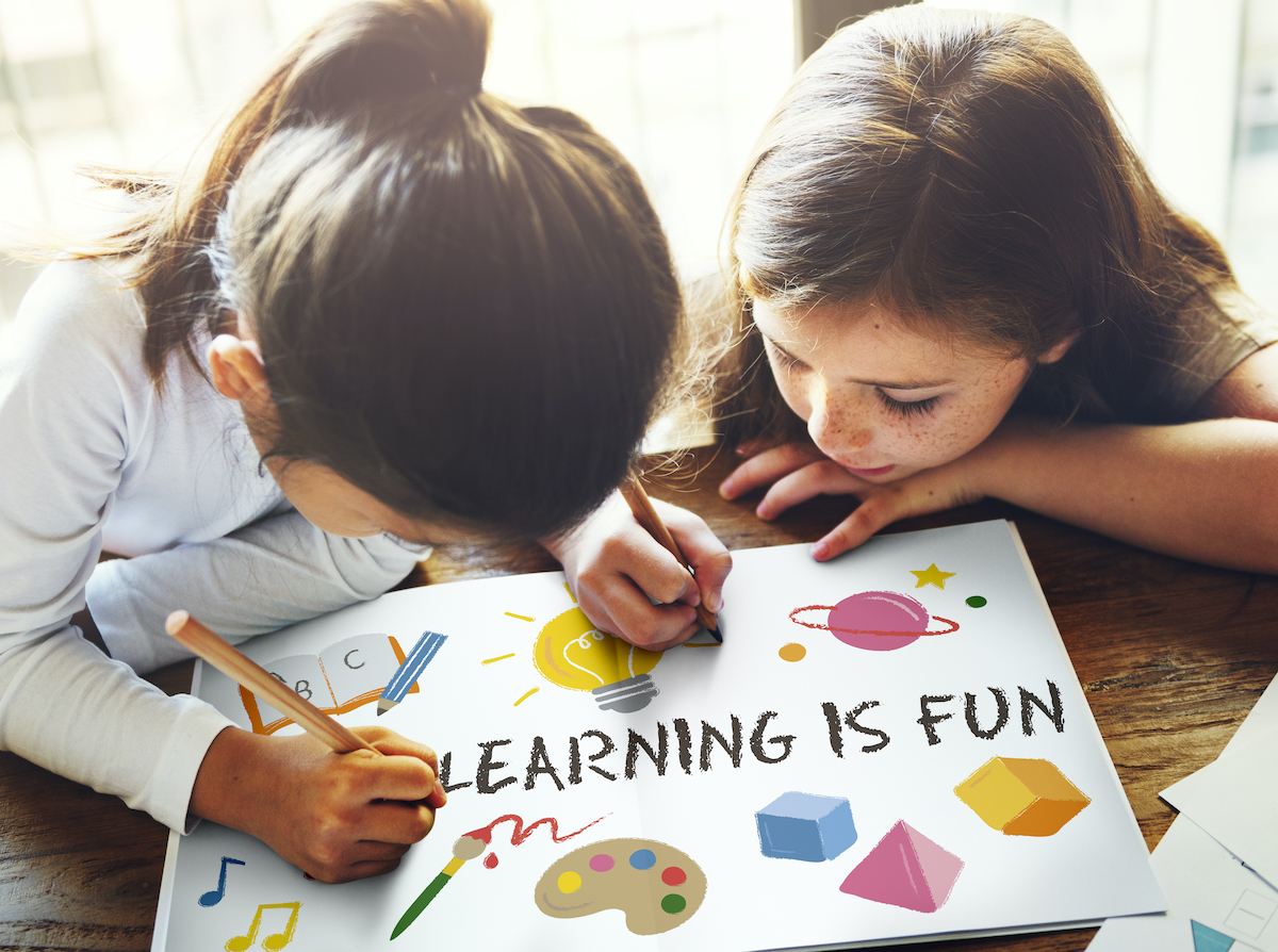 promotional scripts: image of children learning