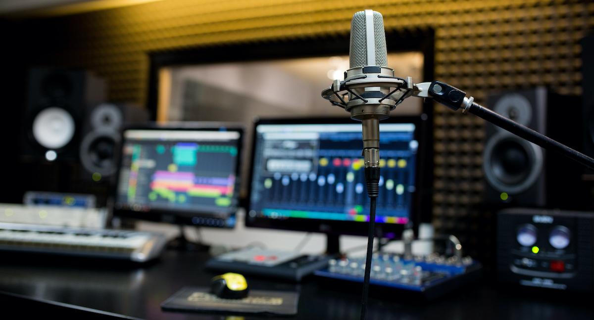 a dubbing studio