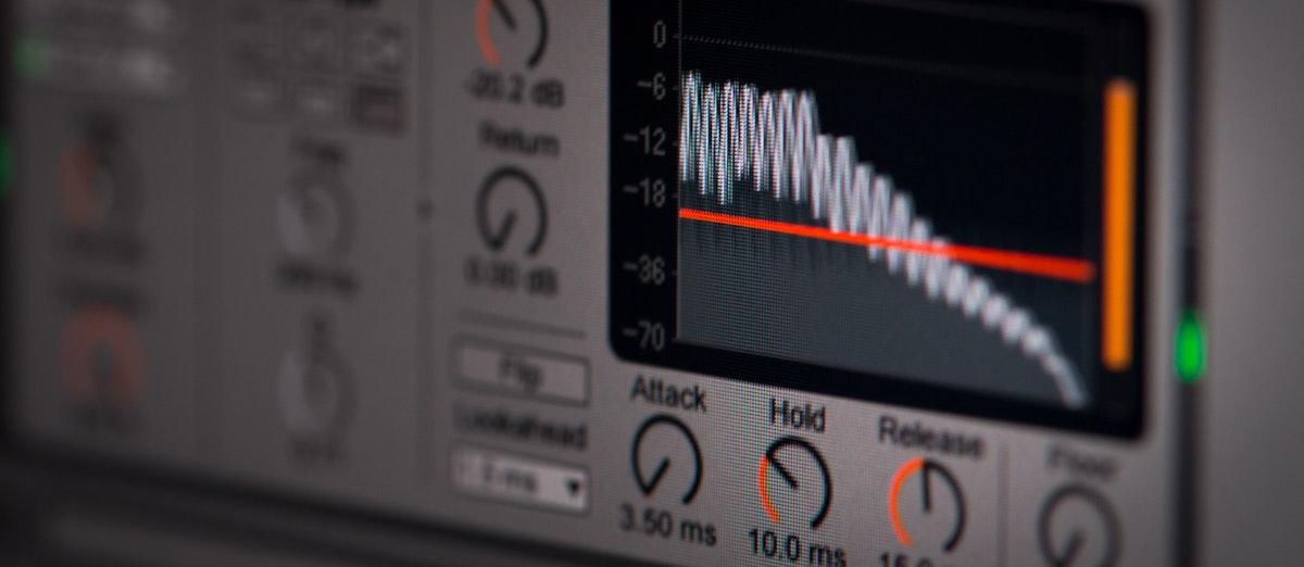 Edit a voice actor's voice over: image of a plugin compressor