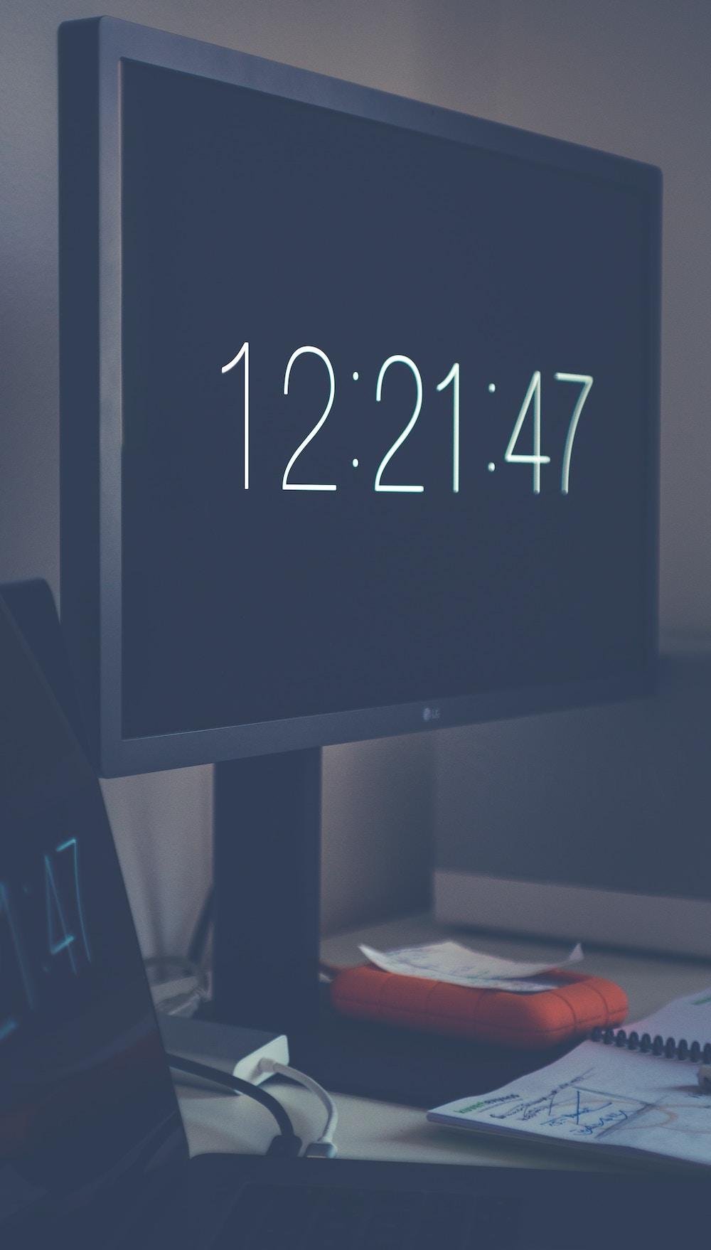 timestamp on screen