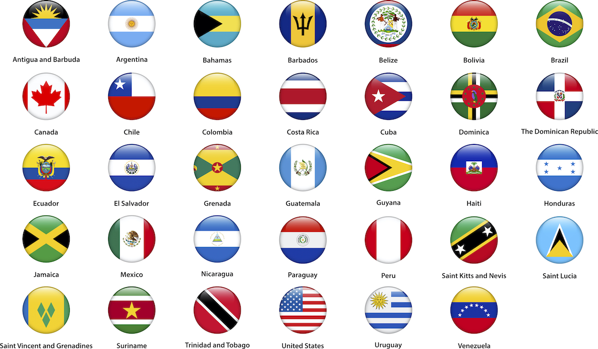 image of the flags of Latin America