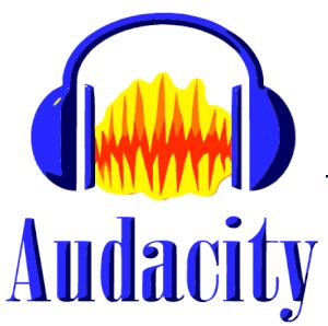 popular audio-editing platforms for voice over:image of Audacity's logo