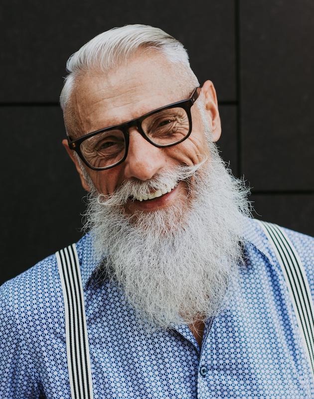 image of old man smiling.