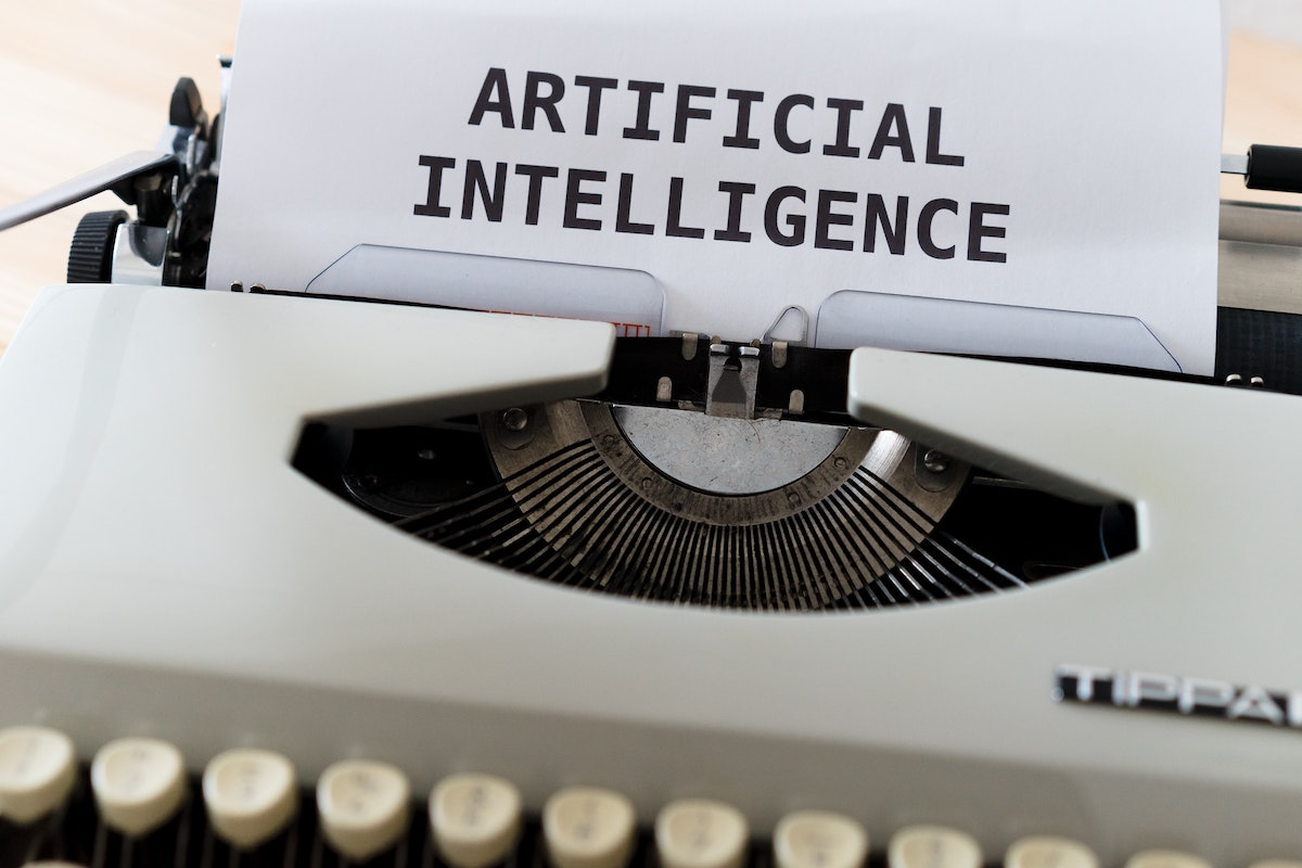 AI Voices are good for the Industry: image of typewriter