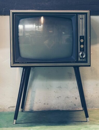 Grab your audience: image of vintage TV set