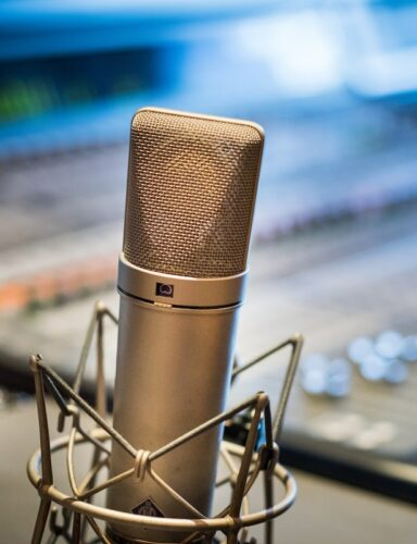 Most out of a voice actor: image of a Neuman U87 mic