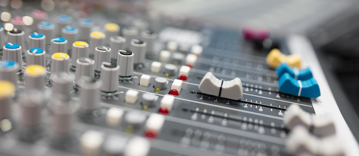 More than just a great voice: image of a mixing desk