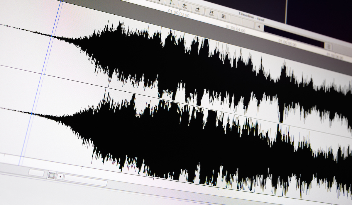 5 must-haves for a voice actor's recording environment: image of an audio file on a computer screen