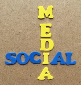 Affiliate marketing: image of social media spelled out on a board