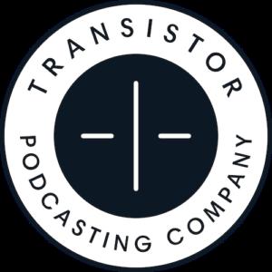 Podcast hosting: image of transistor logo