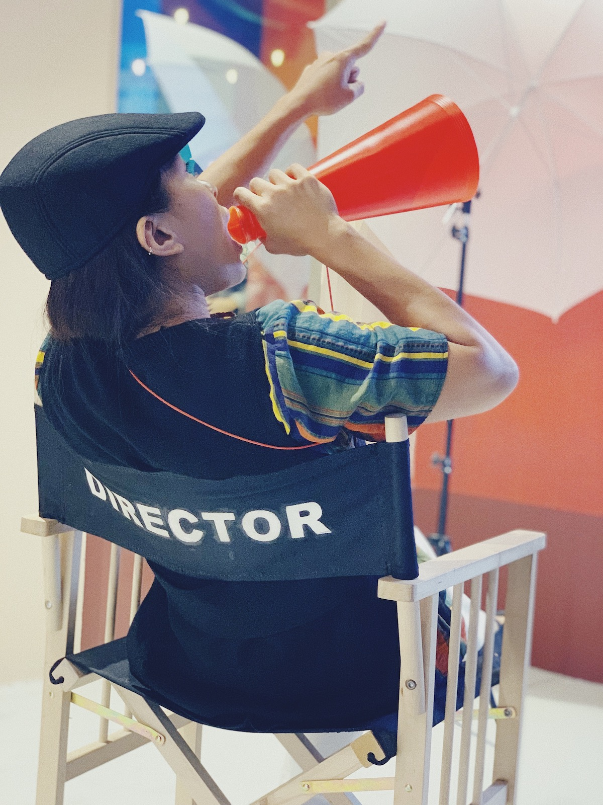 Voice actor: image of a director directing